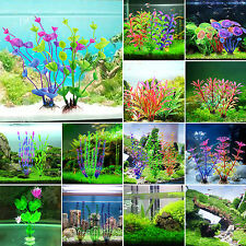 Aquarium Artificial Plastic Grass Plant Underwater Fish Tank Ornament Decoration
