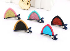 Lovely Toddler Girl Baby Kids Ear Hair Clip Pin Ribbon Bow Satin Boutique Cute
