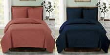 Emerson Oversize Coverlet/Bedspread Set, Luxury 100% Microfiber Wrinkle-Free Set