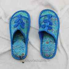 New Chinese Silk Unisex Embroidery Family Slippers Shoes Sz 9 Colours Pick