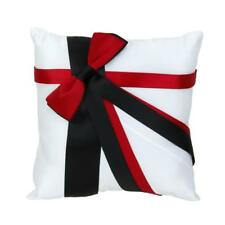Wedding Ceremony Ring Pillow Cushion Bearer with Satin Ribbon Bowknot 20cmx20cm