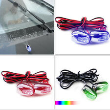 2pcs LED Light Windshield Washer Wiper Jet Water Spray Nozzle Spout Universal