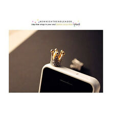 3.5mm Crown Anti Dust Earphone Plug Cover Stopper Cap For Smart Phone Cell Phone