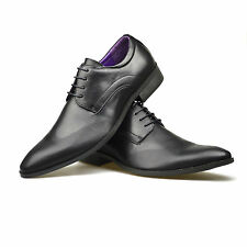 NEW MENS SMART OFFICE WEDDING SHOES CLASSIC PLAIN WORK CASUAL FORMAL PARTY SIZE