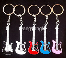 Smart Strat Style Mini Electric Guitar Keychain Keyring 5 Colors Music Souvenir