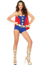 Superhero Comic Book Girl Dress Up Outfit Adult Costume
