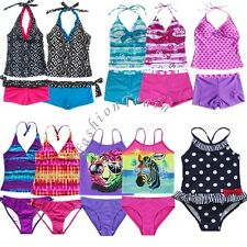 Girls Kid One Piece Polka Dot Bikini Swimsuit Swimwear Bathers Swimmers Size 2-7