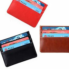 Slim Credit/ ID Card Holder PU Leather Cash Wallet Coin Pocket Money Bag Purse