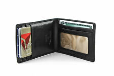 Tony Perotti Italian Leather Bifold Spring Tension Money Clip with ID