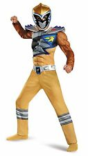 MUSCLED Dino Charge Power Rangers GOLD Ranger Boys Halloween Costume 3T/4T S M