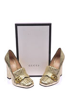 Gucci Shoes Pumps -10% Leather MADE IN ITALY Woman Gold 408206DKT00-7100