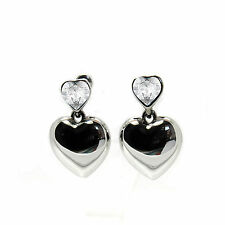 Clear Crystal Heart Earring Studs made with SWAROVSKI® Crystals
