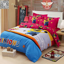 3pcs Cartoon Twin Full Queen Size Bed Quilt/Duvet Cover Set Pillowcases