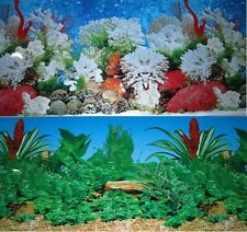 "Aquarium Background Decoration Coral Reef 2 sided Pictures 72""x 19.5"""