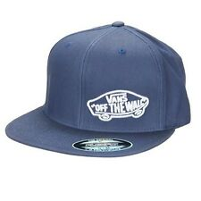 Brand New VANS Off The Wall Suiting Style Washed Out Blue Flexfit Mens Hat Cap