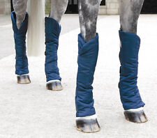 Shires Travel Sure Economy Travelling Boots Set of 4 Horse Pony Cob **NAVY**