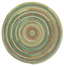Capel Rugs Sherwood Forest Wool Country Braided Area Round Rug Sage Green #225