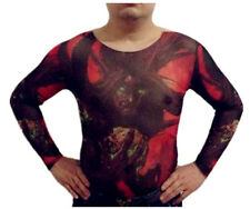 Tattoo Shirt Mesh Sleeves Temorary Arm Body Art  Sport T-Shirt Ghost ST-18