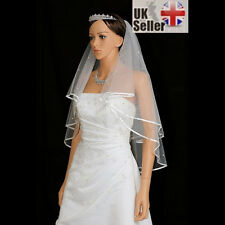 White Ivory 2t Wedding Veil with Comb, Elbow length, FANCY DRESS HEN NIGHT PARTY