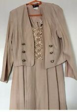 Wild Rose  2 Pc Champagne Dress/Jacket Mother of the Bride/Groom SZ 8 CLASSY!!