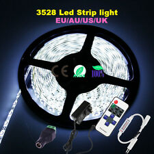 5M 300LED SMD 3528 Cool Warm White Flexible Strip Light+RF Remote+ Power Adapter
