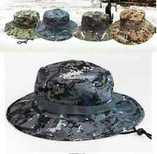 Mens Camo US Military Boonie Cap Sun Bucket Brim Bush Army Fishing Hiking Hat