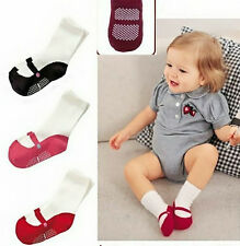 Toddler Baby Toddler  Shoes Boots Anti Slip Clothing Cotton Knee Socks 3 Colors