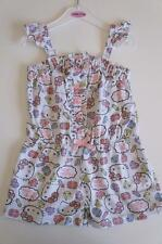 Size 2-6 Years Licensed Hello Kitty Girls Jumpsuit Playsuit