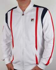 Fila Vintage Drifter Track Top in White, Navy & Red - 80s retro tracksuit Borg