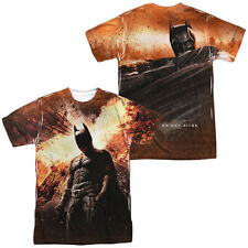 DARK KNIGHT RISES FIRE Licensed Sublimation Men's Tee Shirt SM-3XL F/B