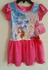 NWT DISNEY PRINCESS BELLE, CINDERELLA, RAPUNZEL DRESS YOUTH GIRLS SZ 4, 5, 6
