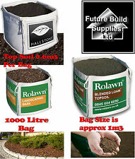 Large Bulk Dumpy Bag Screened Top Soil Blended Loam landscaping Bark Mulch