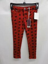 "VIGOSS Jeans Girls ""My Valentin"" Heart Printed Knit Legging, Scarlet"