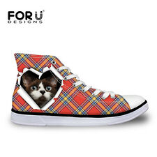 Animal Cat Dog Womens Girls Lace-up High Top Shoes Sneakers Casual Canvas Shoes