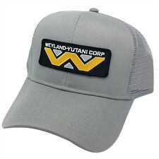 ALIEN Movie Weyland Yutani Corp Sci Fi Patch Mesh Back Gray Cap Hat - AB014AE