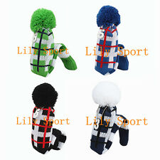 New Golf Wood Head Covers Knit Pom Pom Head Covers Headcovers Fit Callaway Ping