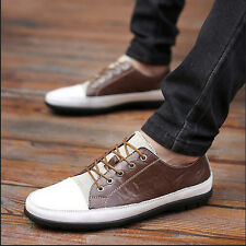 New Men's Faux Leather Oxfords Lace Up Slip On Loafers Casual Shoes Sneakers Z20