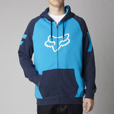 Fox Racing Blue Heighten Yamaha Moto Zip Hoodie Sweatshirt Hoody Sweater fleece
