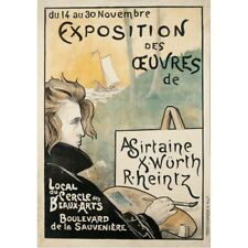 Exposition des Oeuvres Sirtaine Wurth Heintz 1897 Art Exposition Ad Poster