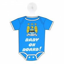 Manchester City FC Baby On Board Shirt Sign Football Soccer EPL