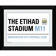 Manchester City FC Picture Street Sign 16 x 12 Football Soccer EPL