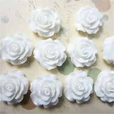 30pcs 7 Colors Resin Rose Flower flatback Appliques For DIY phone/craft