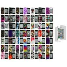 Design Color Hard Snap-On Case Cover+3X LCD Protector for iPhone 4 4G 4S