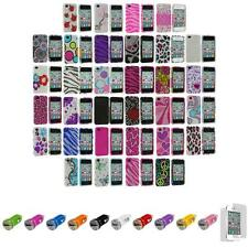 For iPhone 4S 4 Bling Rhinestone Diamond Hard Case Cover+Car Charger+LCD