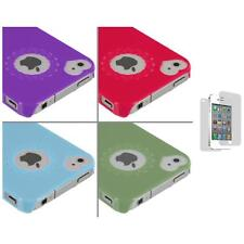 Heart Love Pattern Ultra Thin Hard Cover Case+3X LCD Protector for iPhone 4G 4S