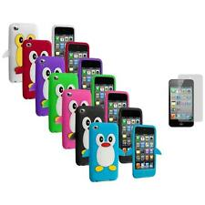 Penguin Cute Gel Skin Case Cover+3X LCD Protector for iPod Touch 4th Gen 4G