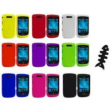 Color Hard Rubberized Cover Case+Cable Wrap for Blackberry Torch 9800 9810