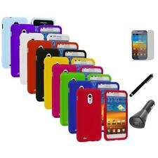 Hard Cover Case+LCD+Charger+Pen for Samsung Sprint Galaxy S II S2 Epic Touch