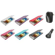 For Samsung At&t Galaxy S2 II i9100 Attain Wallet Pouch Case Cover+2X Chargers