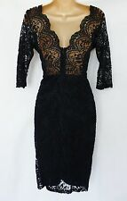 NEXT navy lace scallop wiggle PREMIUM open back vintage dress ocassion wedding
